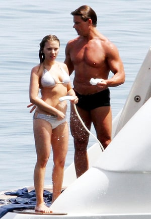 Scarlett Johansson Showers In Bikini With Shirtless