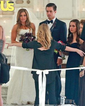 danielle fishel marries tim belusko see photos of her