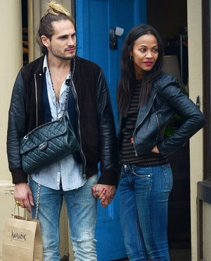 Zoe Saldana Secret Husband: Star Holds Hands With Sexy ...