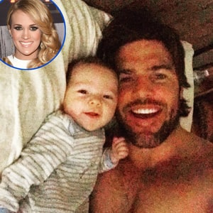 Mike fisher shares adorable photo with baby isaiah credit courtesy of