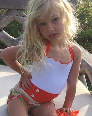 jessica simpson s daughter maxi strikes swimsuit pose
