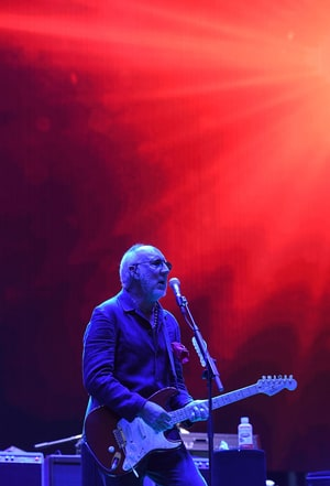Pete Townshend performs with The Who during the third day of the Desert Trip music festival at Indio, California on October 9, 2016. The Desert Trip weekend will mark what will likely become the highest-grossing music festival of all time as six acts who form rock's canon -- the Rolling Stones, Paul McCartney, Roger Waters, The Who, Bob Dylan and Neil Young -- play in the desert of southern California.