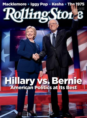 Rolling Stone; Democratic Primary; 2016; Bernie Sanders; Hilary Clinton; Cover