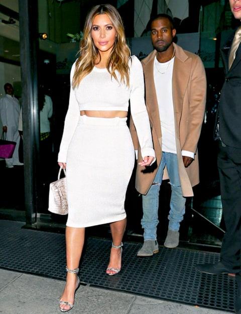 Kim Kardashian Winter White