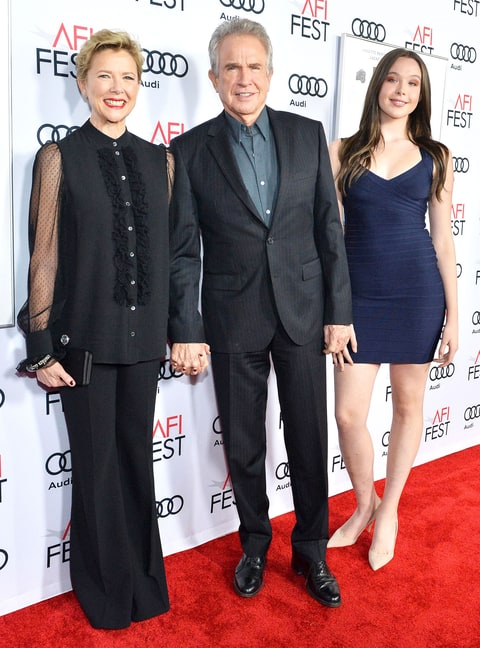 Annette Bening Warren Beatty Bring Teen Daughter To