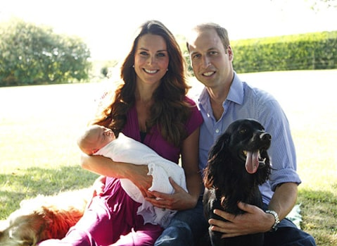 kate middleton prince william baby goerge and dogs