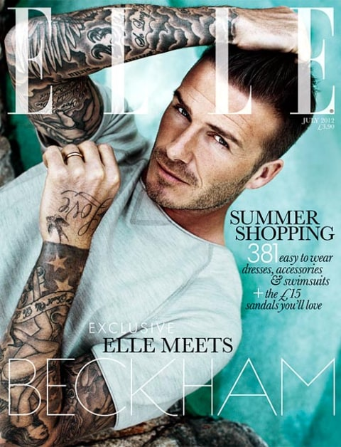 david beckham elle cover