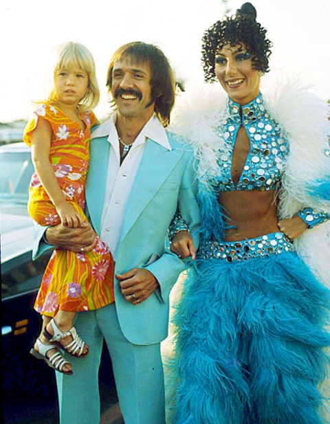 Cher, Sonny Bono and Chasity Bono
