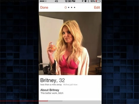 Britney Spears on Tinder