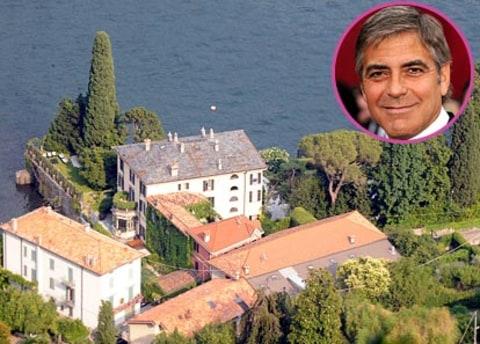 George Clooney Celebrity Dream Homes Us Weekly