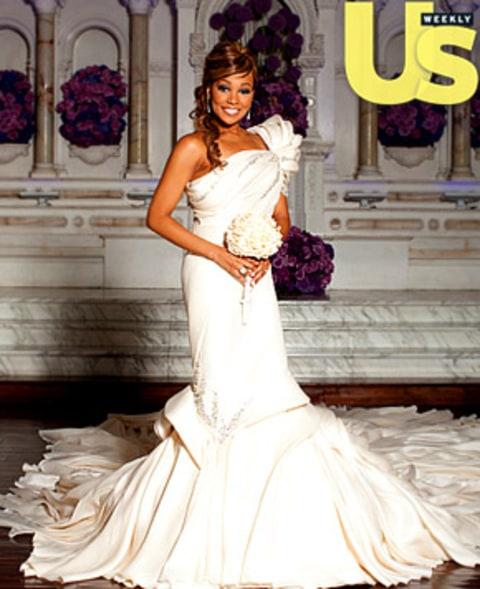 See Monica's Wedding Dress! - Us Weekly
