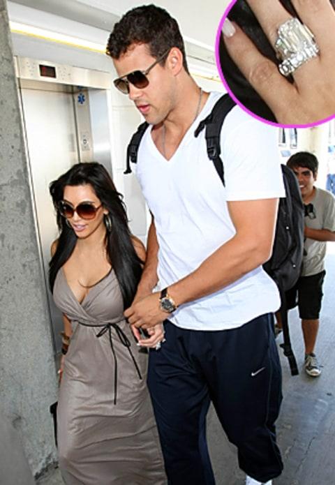 Kim Kardashian, Kris Humphries Leave for European ...