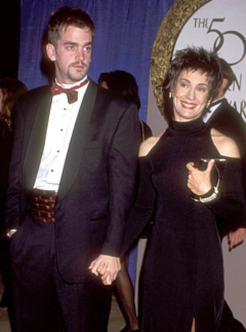 Laurie Metcalf and husband
