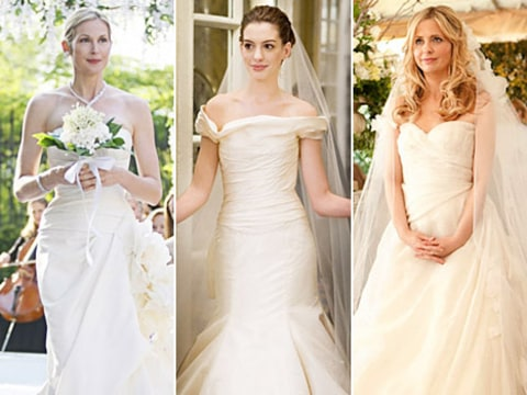 Anne Hathaway And Leighton Meester Make For Two Very Beautiful Brides To Be On Screen That