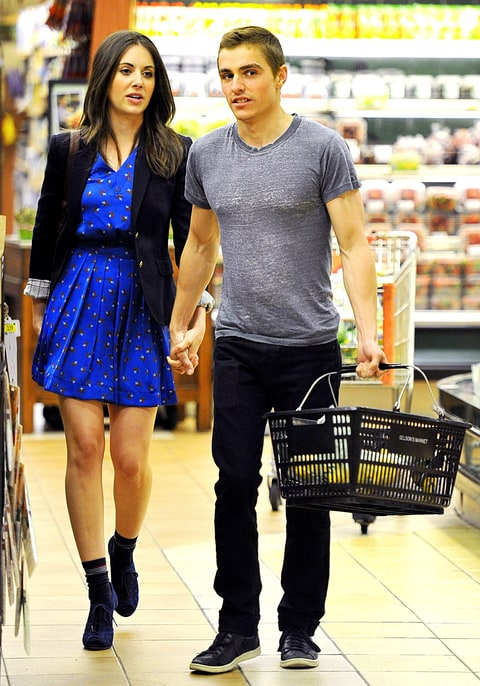 Dave Franco and Alison Brie grocery shopping in West Hollywood, California