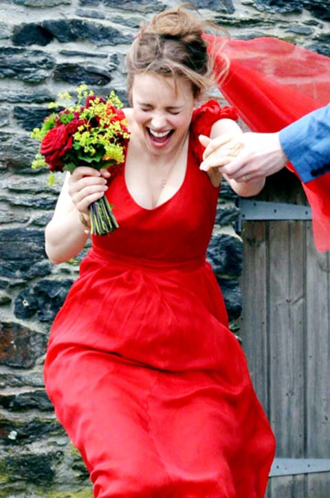 Rachel Mcadams About Time Red Dress To Pin On Pinterest