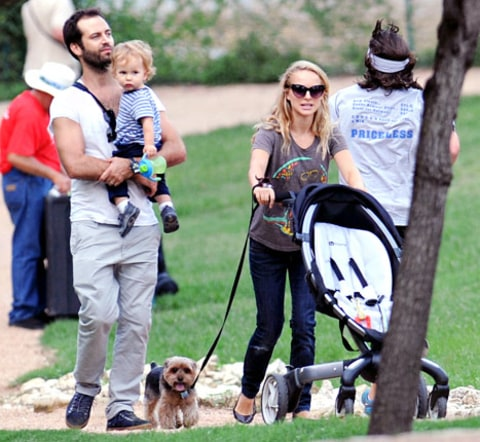 "Natalie Portman, Benjamin Millepied, Son Aleph ""Are a ..."