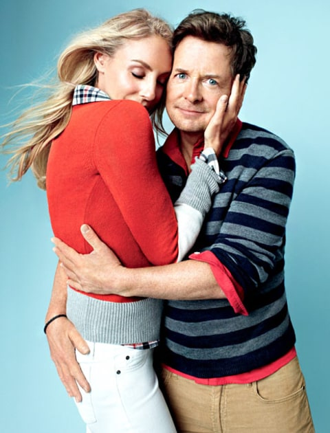 Michael J Fox Wife Tracy Pollan Share Tender Embrace In