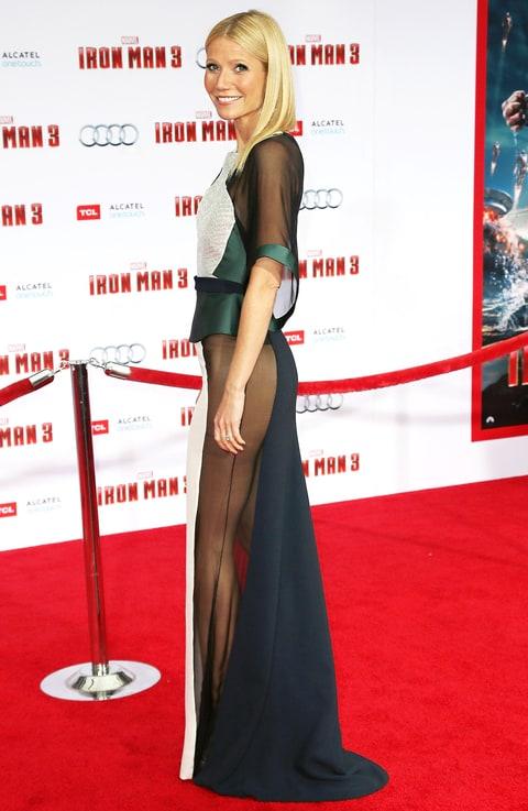 Gwyneth Paltrows No Underwear See Through Dress Isnt