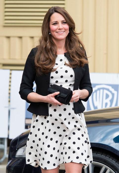 Kate Middleton Recycles Polka Dot Topshop Dress For