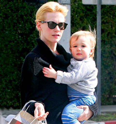 "January Jones on Baby Daddy's Identity: ""That's My Son's ...