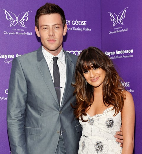 was lea dating cory when he died