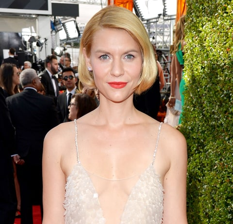 Claire Danes Rocks Short Faux Bob Hairstyle, Plunging Neckline at 2013 ...