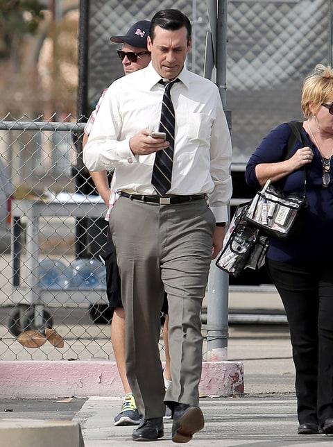 Jon Hamm appears to be without underwear, yet again, on ...
