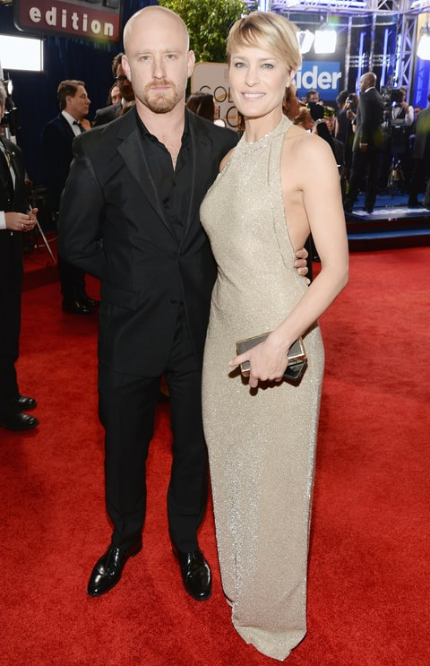 Robin Wright and Ben Foster hit the Golden Globes Red ...