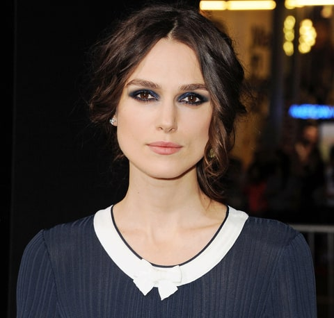 Keira Knightley's makeup artist explain how she created the blue smoky ...