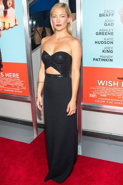 Kate Hudson Wears Sexy Black Cutout Dress for Wish I Was ...
