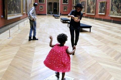Beyonce and Blue Ivy at the Louvre