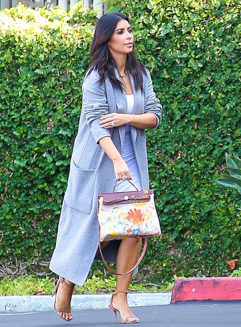 hermes purses - Kim Kardashian Carries Bag Painted by North West: First Picture ...