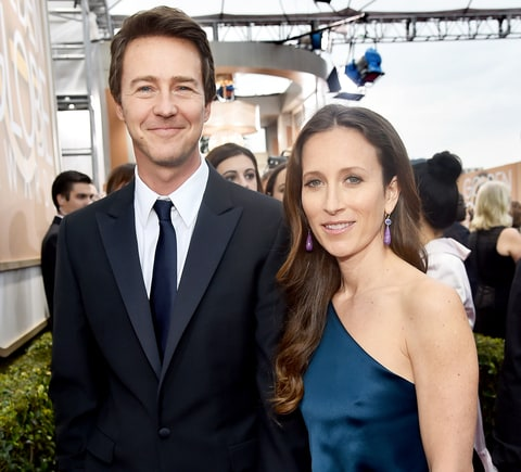 Edward Norton and wife...