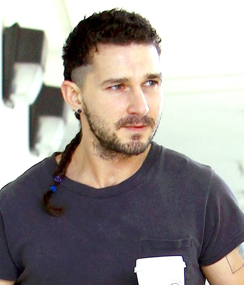 Shia Labeouf debuted a new rattail braid hairstyle on Feb. 28, in Los ...