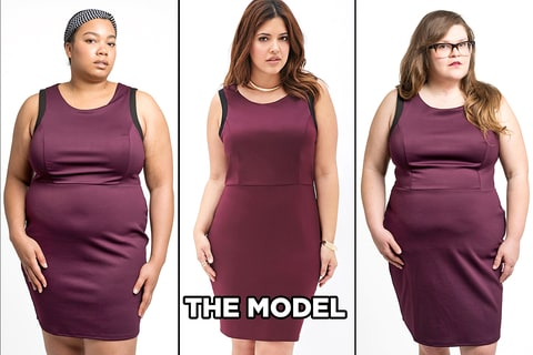 Plus Size Fashion On Real Women Compared To Models How They Differ Us Weekly