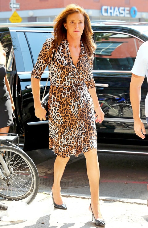 Caitlyn Jenner Wears a Leopard Dress, a la Kim Kardashian ... Daily News Bruce Jenner In A Dress Photos