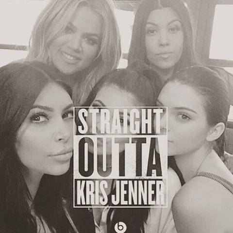 khloe kardashian posts funny straight outta kris jenner