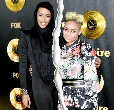 The lesbian couple Raven-Symone and AzMarie Livingston