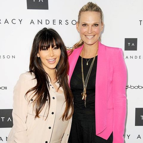 Kim Kardashian and Molly Sims