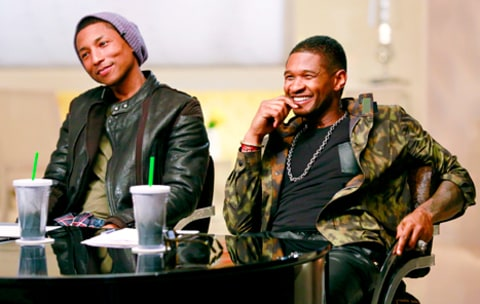 Pharrell Williams and Usher