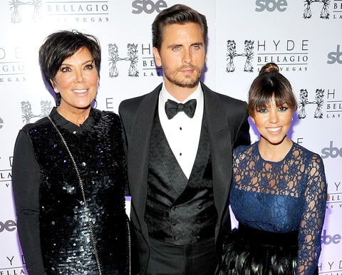 Kris Jenner, Scott Disick and Kourtney Kardashian