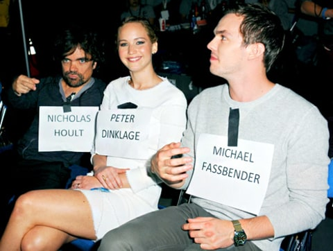 Peter Dinklage, Jennifer Lawrence and Nicholas Hoult