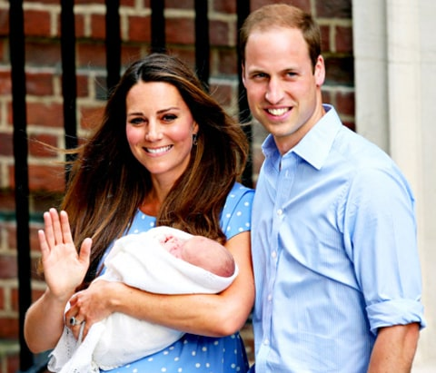 Prince William, Kate Middleton and baby