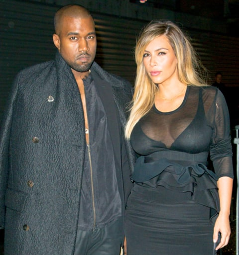 Kim Kardashian and Kanye West
