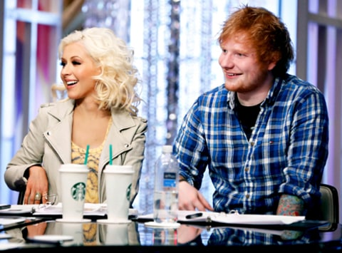 Ed Sheeran and Christina Aguilera