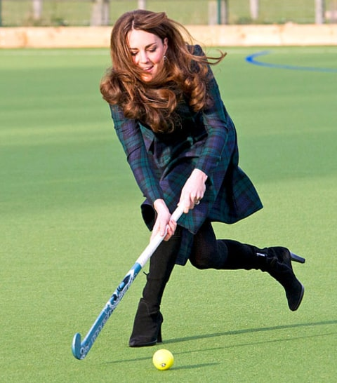 Kate Playing Field Hockey
