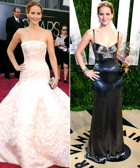 Jennifer Lawrence oscar vs. vanity