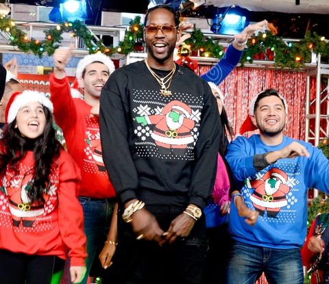 Rapper 2 Chainz hosts the annual GMA Ugly Sweater Contest on December 17.