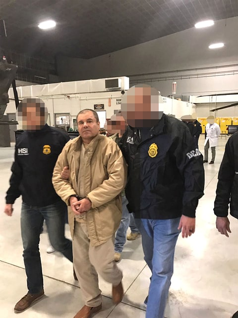 January 19, 2017 - Ciudad Juarez, Chihuahua, MEXICO - Joaquin Guzman Loera, the drug lord and chieftain of the Sinaloa cartel known as El Chapo, was extradited to the United States on Thursday January 19, 2017 and flown from a jail in Ciudad Juarez, Mexico to Long Island MacArthur Airport in Islip, New York to face numerous charges